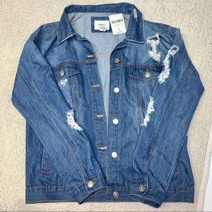 Brand new ripped denim jacket